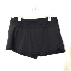 Lululemon black running shorts 10